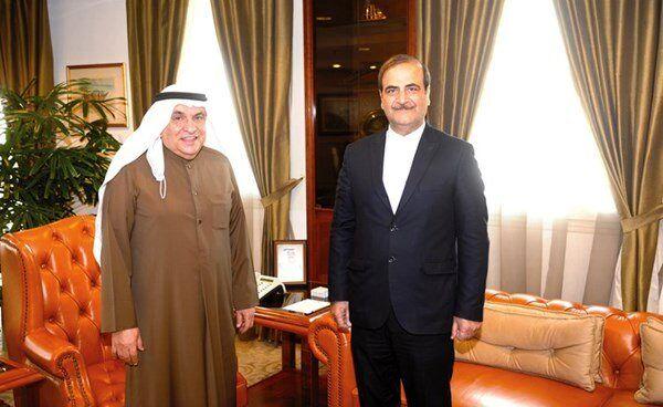 دیدار سفیر ایران با رئیس اتاق بازرگانی و صنایع کویت