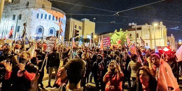 تداوم تظاهرات علیه نتانیاهو