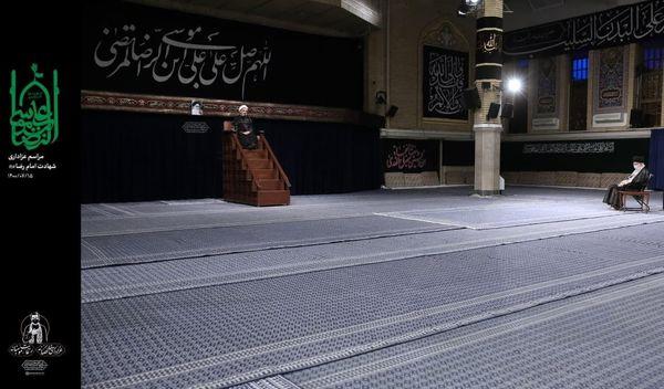 حضور رهبر انقلاب  در مراسم عزاداری امام رضا علیهالسلام + عکس