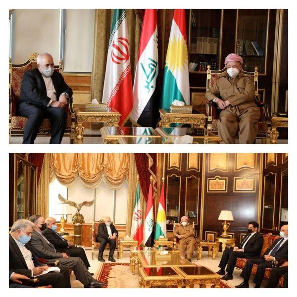 مسعود بارزانی در دیدار ظریف: اجازه نمیدهیم کردستان محلی برای تهدید ایران باشد