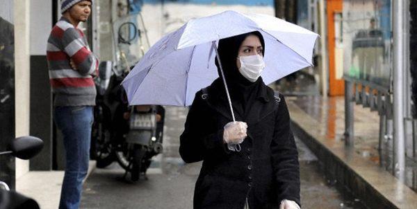 نحوه استفاده از ماسک در روزهای بارانی