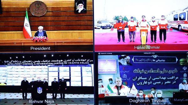 قدردانی روحانی از نیروی انتظامی و جمعیت هلال احمر