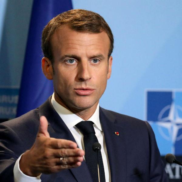 رییس جمهور فرانسه مقابل ترامپ ایستاد