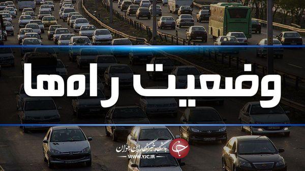 ترافیک نیمه سنگین در آزادراه کرج -تهران