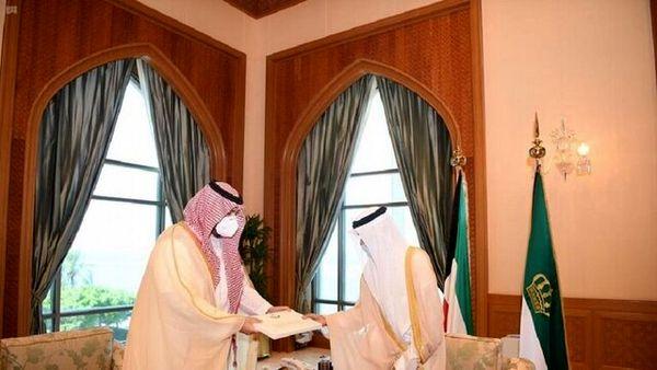 پیام ویژه امیر کویت به پادشاه عربستان