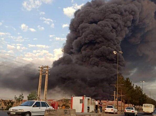 جزئیاتی از آتشسوزی مهیب در کارخانه الکل قم