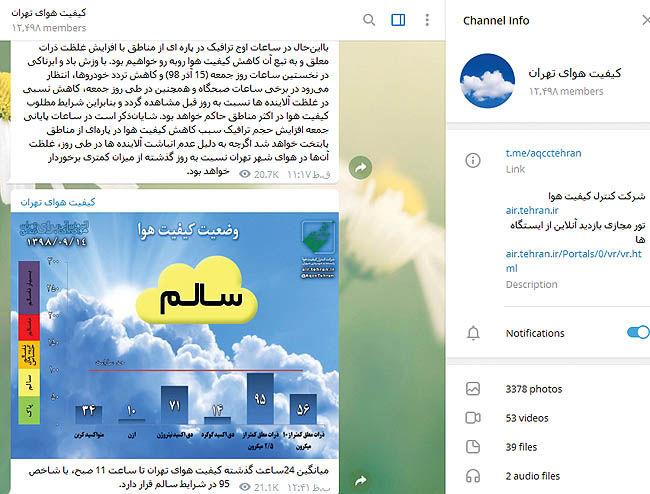 تعطیلی «تلگرام» آلودگی هوا