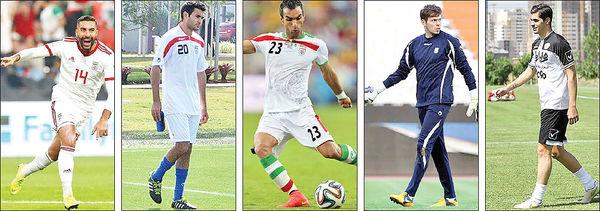 پنج ستاره گمشده فوتبال ایران