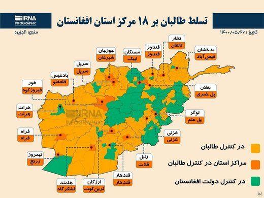 یک شهر دیگر افغانستان به دست طالبان افتاد
