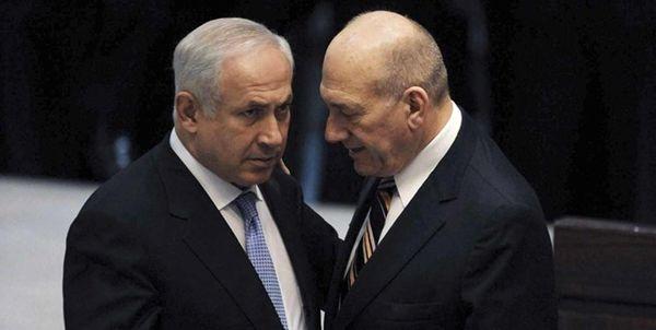 ایهود اولمرت: نتانیاهو و خانوادهاش بیمار روانی هستند