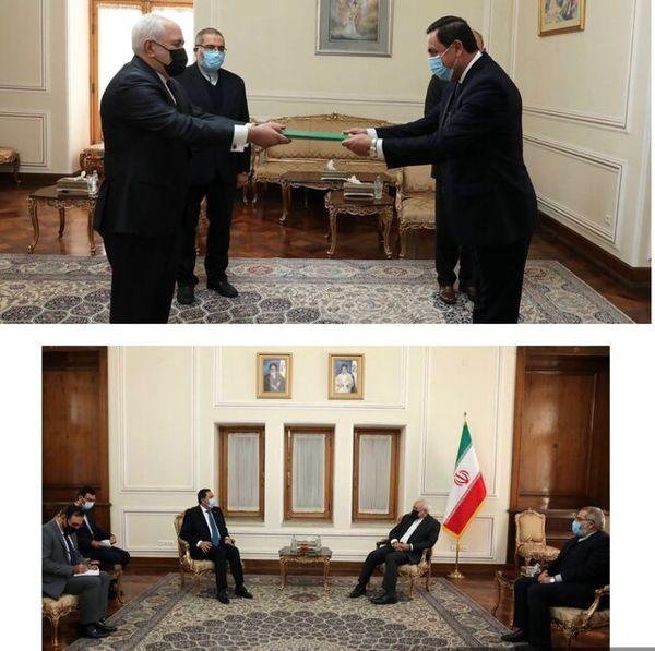 دیدار سفیر جدید سوریه در تهران با ظریف