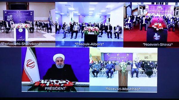 افتتاح طرحهای کلان ملی دانشبنیان توسط روحانی