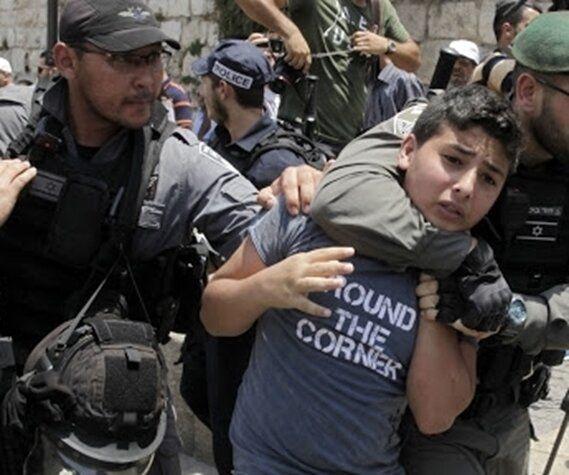 بازداشت ۵۴۳ کودک فلسطینی توسط رژیم صهیونیستی در سال ۲۰۲۰