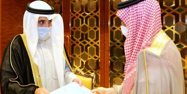 موضوع نامه امیر جدید کویت به پادشاه عربستان