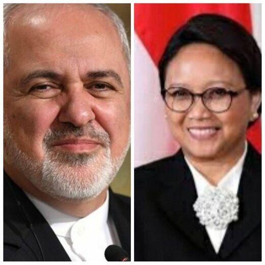 تماس ظریف با وزیر خارجه اندونزی در پی سقوط هواپیمای این کشور