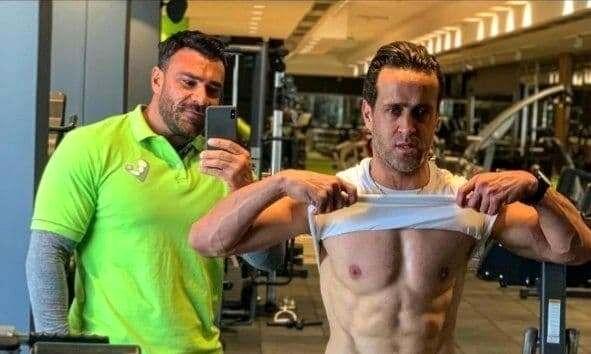 """""""سیکس پک""""علی کریمی در 43 سالگی/عکس"""
