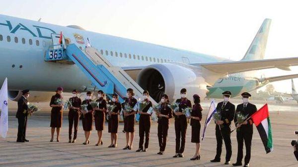 ورود اولین پرواز تجاری امارات به فرودگاه تل آویو