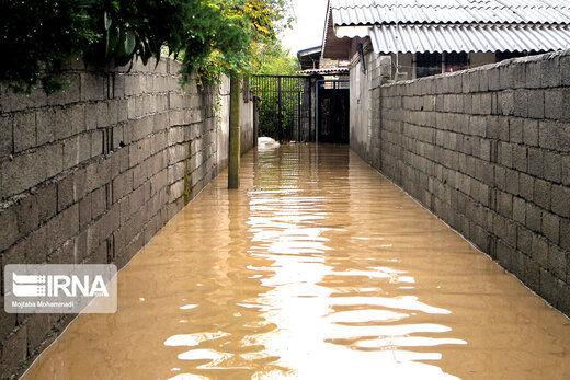 سیلاب شدید در آستارا
