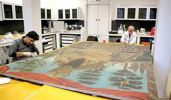 مرمت نقاشیهای قاجاری کاخ گلستان برای نمایش در موزه لوور
