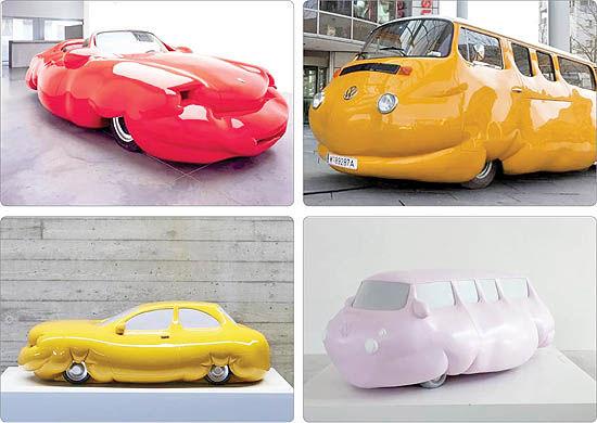 هشدار هنرمندانه  با خودروهای چاق