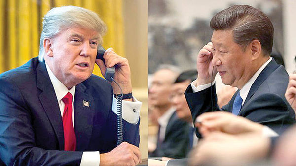مکالمه تلفنی ترامپ و شی