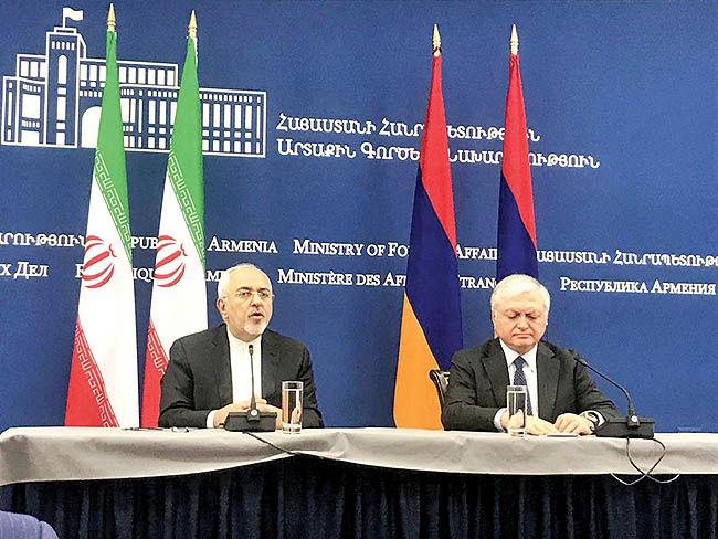 تاکید ظریف و نعلبندیان بر توسعه روابط اقتصادی تهران-ایروان