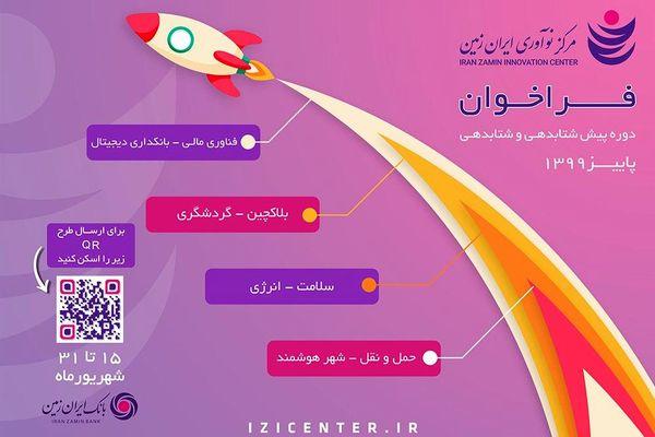فراخوان دوره پیش شتابدهی و شتابدهی مرکز نوآوری ایران زمین رخدادی بزرگ در زیستبوم نوآوری کشور