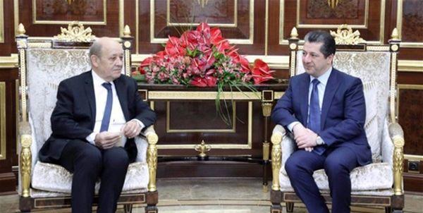 جزئیات گفتوگوی تلفنی نخستوزیر اقلیم کردستان عراق با وزیر خارجه فرانسه