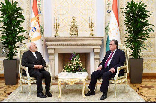جزئیات دیدار ظریف با رئیس جمهور تاجیکستان