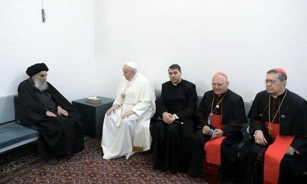 بیانیه دفتر آیت الله سیستانی درباره دیدار با پاپ فرانسیس