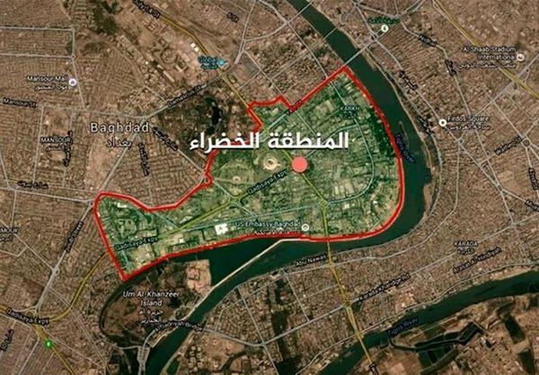 حمله موشکی به منطقه الخضراء بغداد