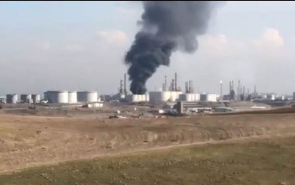 3 کشته در آتش سوزی پالایشگاه اربیل عراق