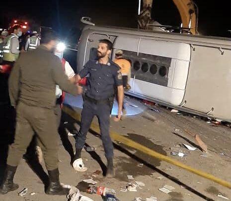 واژگونی خونین یک اتوبوس در جاده هراز