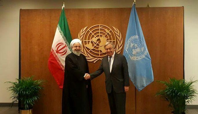 دیدار آقای روحانی با دبیرکل سازمان ملل متحد