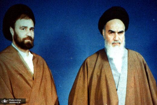 تصویری کمتر دیده شده از پسر و نوه امام خمینی (ره) + عکس