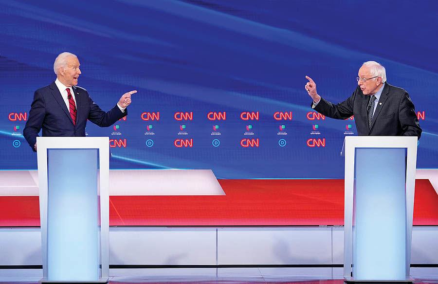 سندرز: آمریکا انقلاب میخواهد؛ بایدن: اصلاحات کافی است