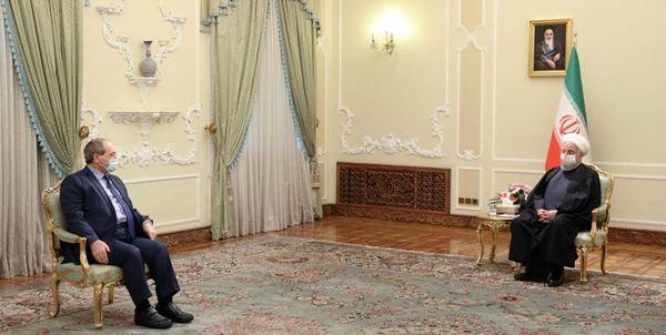 وزیر خارجه سوریه با حسن روحانی دیدار کرد