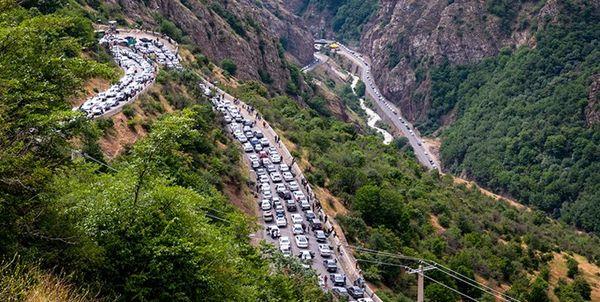 ترافیک پر حجم در جادههای شمال
