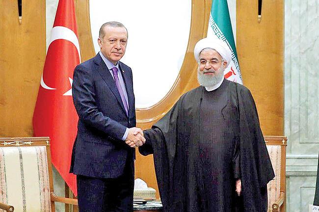 دیدار روحانی با پوتین و اردوغان