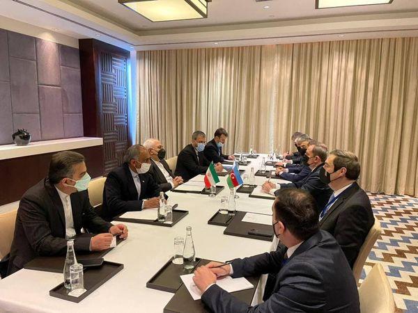 دیدار ظریف با همتای آذربایجانی خود