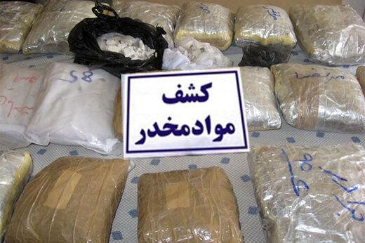 درگیری پلیس با قاچاقچیان و کشف یک و نیم تن مخدر