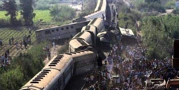 حادثه مرگبار برخورد دو قطار در مصر