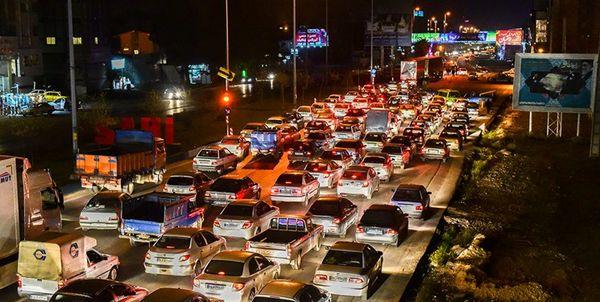 ترافیک در ورودی شرقی پایتخت پرحجم است