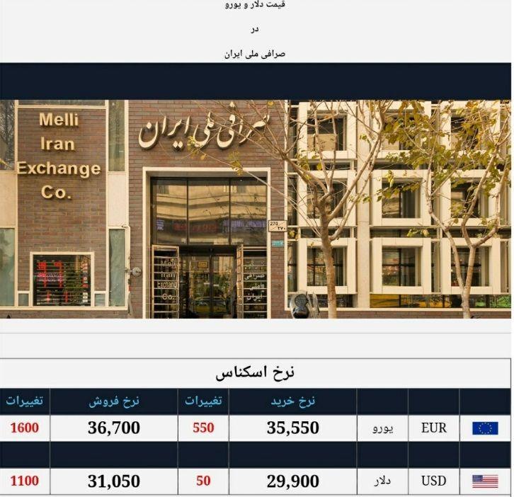 قیمت ارز صرافی ملی