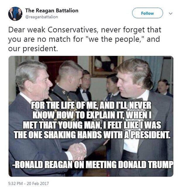 عکس قدیمی ترامپ و ریگان