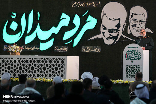 همنشینی سردار سلامی و سردار قاآنی در سالگرد شهادت سردار سلیمانی+عکس