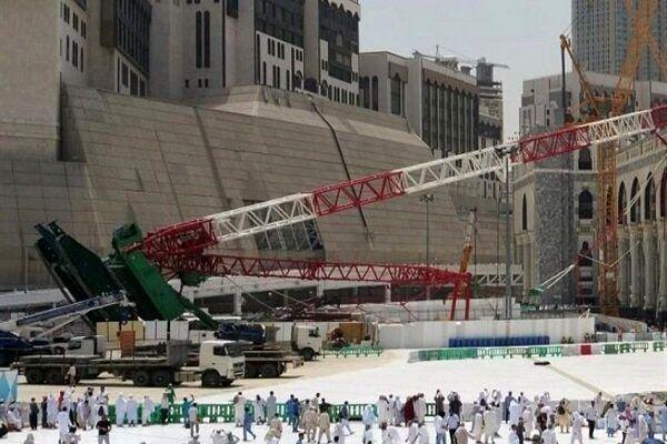 عاملان حادثه سقوط جرثقیل در مکه مکرمه تبرئه شدند