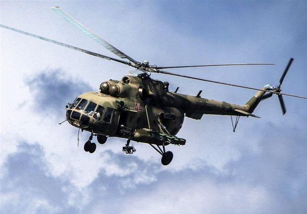 سقوط یک فروند بالگرد نظامی روسیه