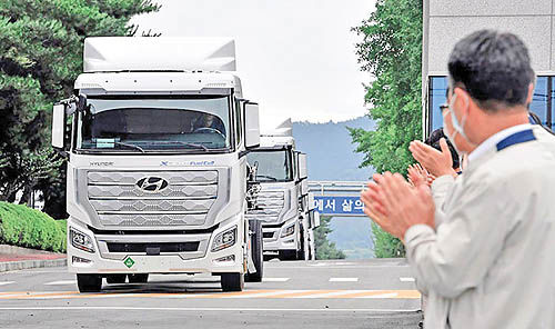 عرضه کامیون هیدروژنی هیوندای