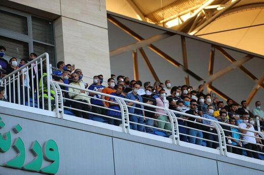 حضور عجیب هواداران برای تماشای بازی پرسپولیس مقابل پدیده